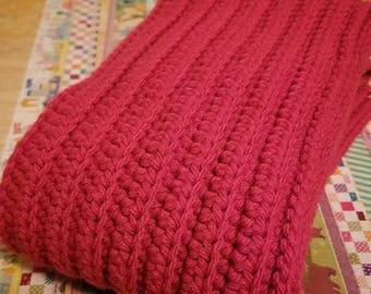 Scarlet Crochet Scarf
