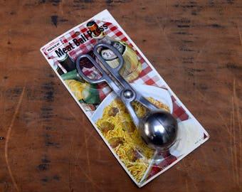 Meat Ball Press Kitchen Utensil, Nevco NOS Meatball Maker, 1960s Aluminum Kitchen Gadget