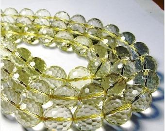 SALE Out Of TOWN AAA Oro verde Lemon Quartz Round Beads 16mm , Sparkling Pristine,Natural Quartz, Lemon Quartz Bead,