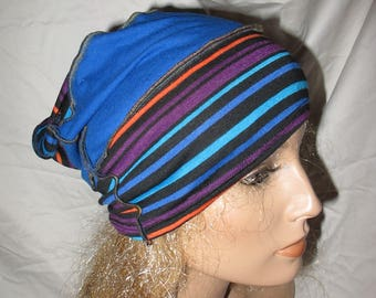 Colorful Stripe OOAK Katwise Inspired Jersey Slouchy Hat, Jersey Slouch Hat, Jersey Slouchy Beanie, Unisex Slouch Hat, Unisex Slouchy Hat