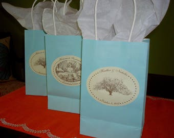 RESERVED FOR BEVERLY 7 Sheets Savannah Wedding Stickers / Labels - Oak Tree or Forsyth Park Fountain