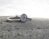Custom order oval bridal set
