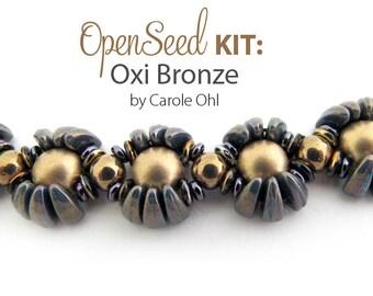 Open Seed Bracelet Kit: Oxi Bronze by Carole Ohl