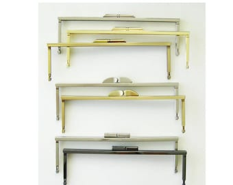 """Gold, Silver, Antique Gold Purse Frame - 8"""" Modern Clutch Metal Frame Pursemaking Supplies - DIY Sewing Project - Ships from USA"""