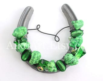 Lucky Large Beaded Horseshoe