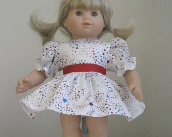 Summer Sale 20% Off Doll Clothes-Made for Bitty Baby Dolls,  Patriotic Dress Fits Bitty Baby and Bitty Twins Dolls