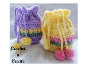 Tulip Wrist Purse Crochet Pattern (DOWNLOAD) CNC47