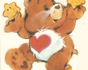 Butterick 6227 1980s  TENDERHEART BEAR Care Bear Pattern Vintage Stuffed Toy Sewing  Pattern 17 Inches