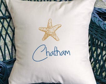 Customized Starfish pillow (INCLUDES PILLOW INSERT)