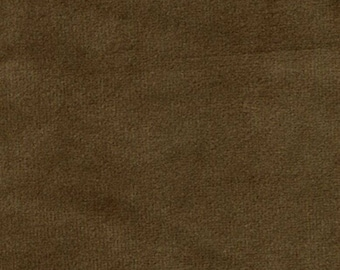 Super Soft SEPIA BROWN Washable Velvet Fabric Multipurpose UPHOLSTERY Apparel Home Decor