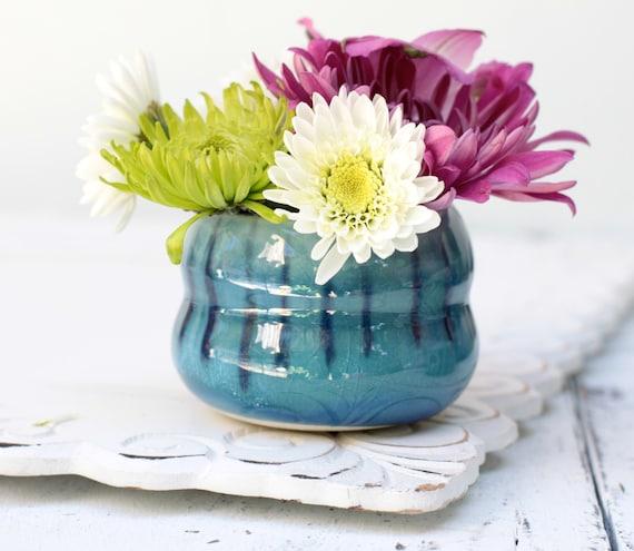 dark blue bud vase