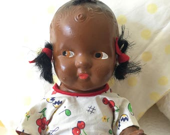 10 Inch Composition Black Baby Doll