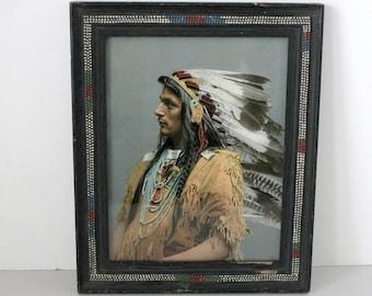 1903 Chief Pau Puk Keewis Antique Photo, Iroquois, Ojibwas, Detroit Photographic Publishing Co