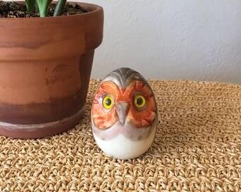 Stone Owl Figurine