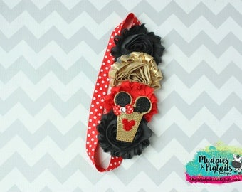 Planner band { Golden Mouse } mouse ears, red, frappuccino cup black gold planner girl accessories bible band, baby headband