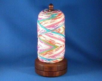 Deluxe Walnut Yarn/Thread Holder - Natural Wax Finish, hand rubbed