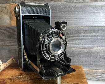 Antique AGC Pronto Folding CAMERA- Made in Germany- Vintage Photography Industrial Design- G5