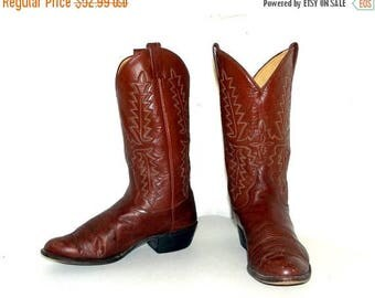 Brown Western style cowboy Boots -- Panhandle Slim brand - mens size 10 D or womens size 11.5