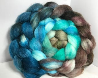 Spinning Fiber Merino SW/Bombyx/Mohair 70/15/15 - 5oz - Surf and Sky 2