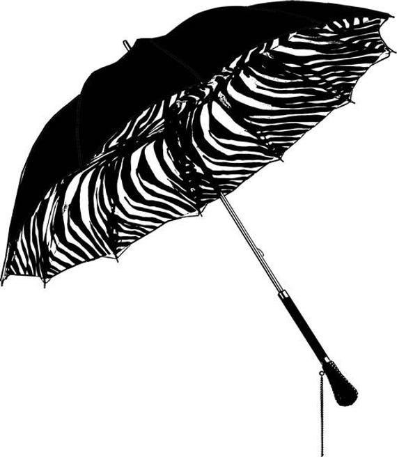 "umbrella zebra stripes parasol png clipart Digital image download graphics fashion accessories 10"" x 11.6"" printable wall art"