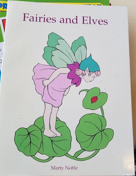 fairies and elves coloring book fantasy fairy tale coloring books line art 1998