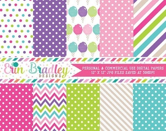 80% OFF SALE Cotton Candy Digital Paper Set Commercial Use Instant Download