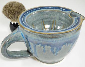 Shaving Scuttle - Scuttle Clay Mug - Clay Shaving Scuttle - Scuttle Mug Shaving - Shaving Mug Warmer - Clay Scuttle Mug - In Stock