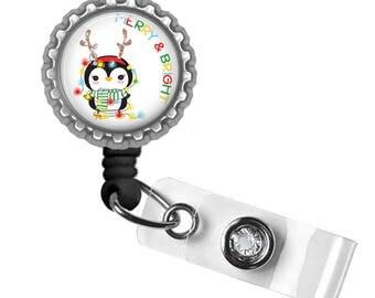 Holiday, ID Badge Holder, Badge Reel, Nursing Student, RN, Gifts for Nurses, Gifts for Student Nurses, Gifts for Teachers