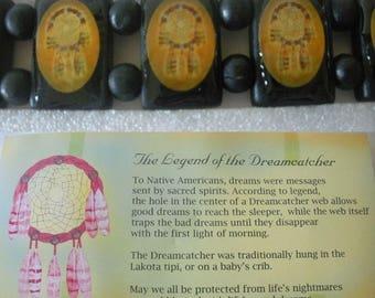 Vintage DREAMCATCHER Bracelet LAKOTA Indian Mission UNWORN in Package Wood & Enamel Dreamcatcher Images Indian Craft Legend of Dreamcatcher