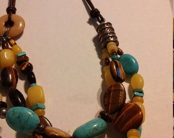 Turquoise and 925 silver necklace
