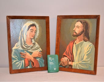 Paint By Number 1960's Mary & Jesus