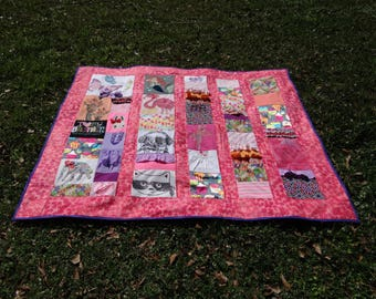 Quilt with little girls clothing