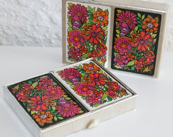 Double Deck Congress Mod Floral Playing Cards
