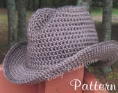 CROCHET PATTERn DOUBLE STRANd Cowboy Cowgirl Hat Cap Boy Girl Toddler Child Pre-Teen Adult Women Star Pattern skill level intermediate