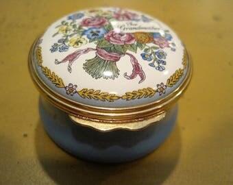Vintage Halcyon Days Enamel Grandmother Box