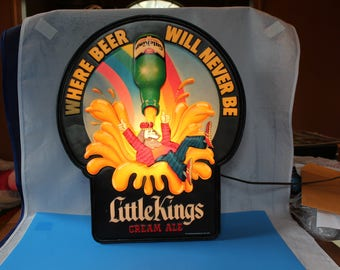 Vintage Schoenling Lighted Sign for Little Kings Cream Ale