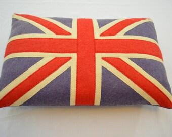 Vintage BRITISH FLAG PILLOW union jack england handmade