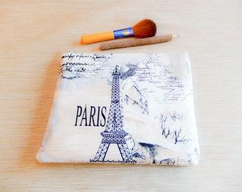 Paris Fabric Pouch, Paris Zipper Pouch, Paris Back to School Supply, Paris Coin Purse, Paris Pencil Pouch, Paris Cosmetic Pouch, Paris Pouch