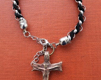 New Saint Francis of Assisi San Damiano cross Crucifix Bracelets made in solid bronze  in Canada