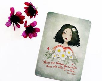 30% Off - Summer SALE There are always flowers... - Postcard