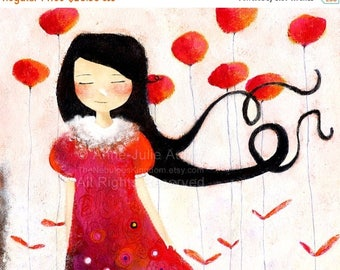 10% Off - Summer SALE Girl at Poppies - Deluxe Edition Print