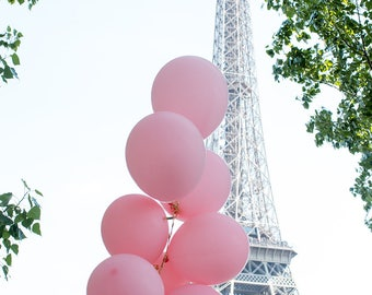 Paris is love, Pink Balloons in Paris, Eiffel Tower, Summer in Paris, Paris Photography, Love in Paris, Baby Pink Balloons, Rebecca Plotnick