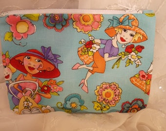 Gardening Ladies Pencil Pouch, Makeup Bag, Gadget Case, Medicine Bag, Artists Storage Bag, Medicine Pouch, Makeup Pouch