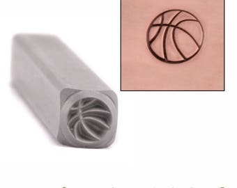 Basketball Metal Design Stamp 4.5mm wide by 4.5mm high - Beaducation Original