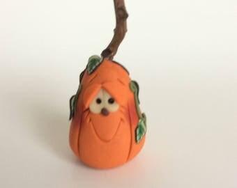 Polymer Clay Halloween Pumpkin by Helen's Clay Art