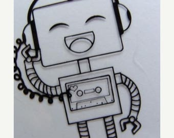 ONSALE Robot  Geekery Clear Stamps lot
