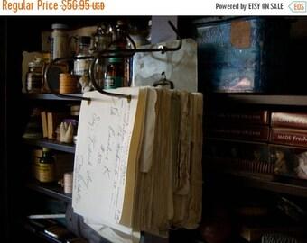 ONSALE Antique Medical lot Original Metal Adjustable File of 1960s Medical Rx Hundreds of Prescriptions