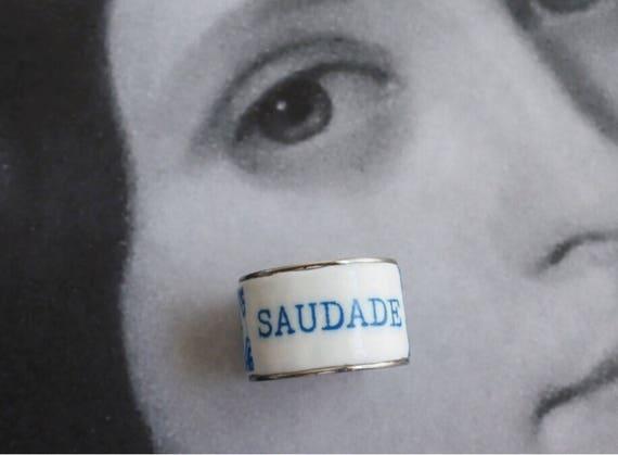 Tile Ring Saudade Stainless Steel Azulejos Portuguese Brasil Brazil Portugal US Size 9