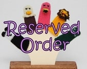 Reserved for chattycathy.  Custom Finger Puppet Order