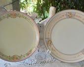 Vintage Meito China Hand Painted Porcelain Dessert Plates Set of 2
